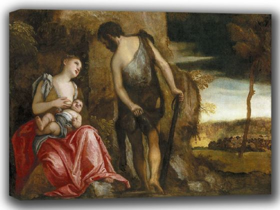 Veronese, (Paolo Caliari): Cain and His Family Wandering. Fine Art Canvas. Sizes: A4/A3/A2/A1 (002010)